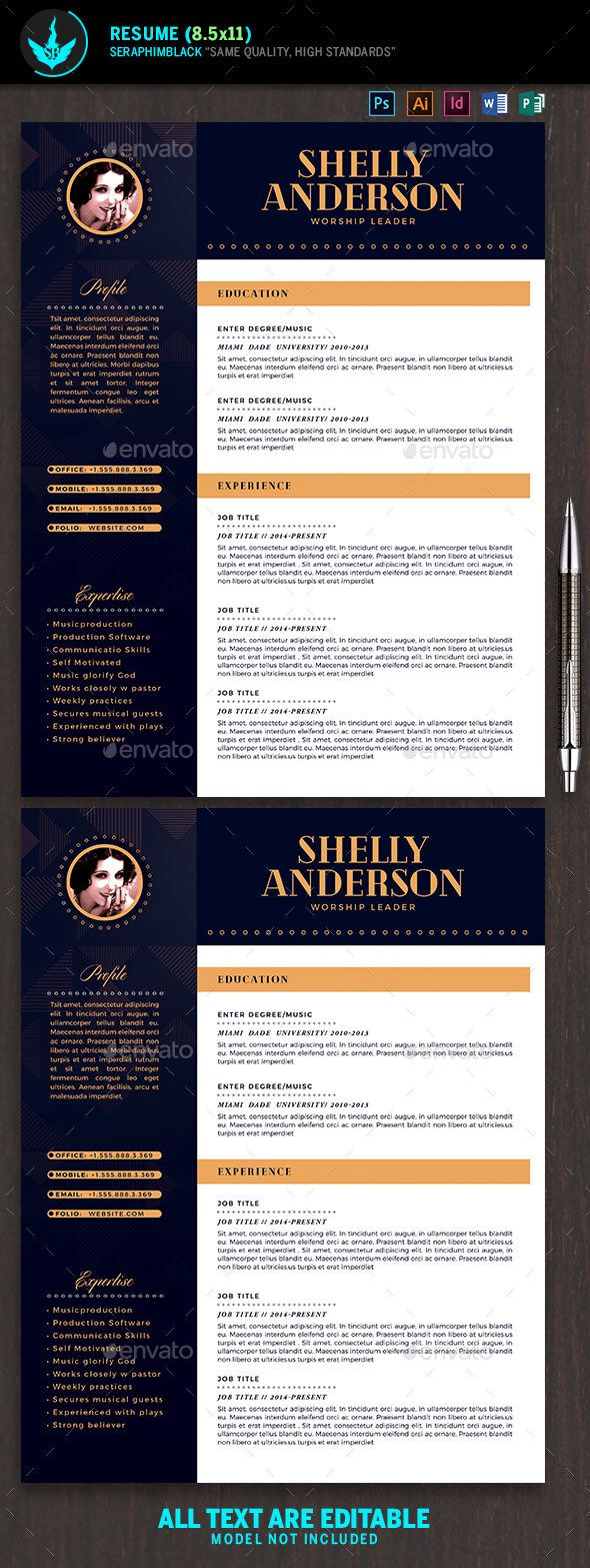 Art Deco Resume Template  Template Resume Ideas And Resume Cv