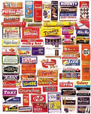 Chocolate Remember These 1960s Retro British Chocolate Bars