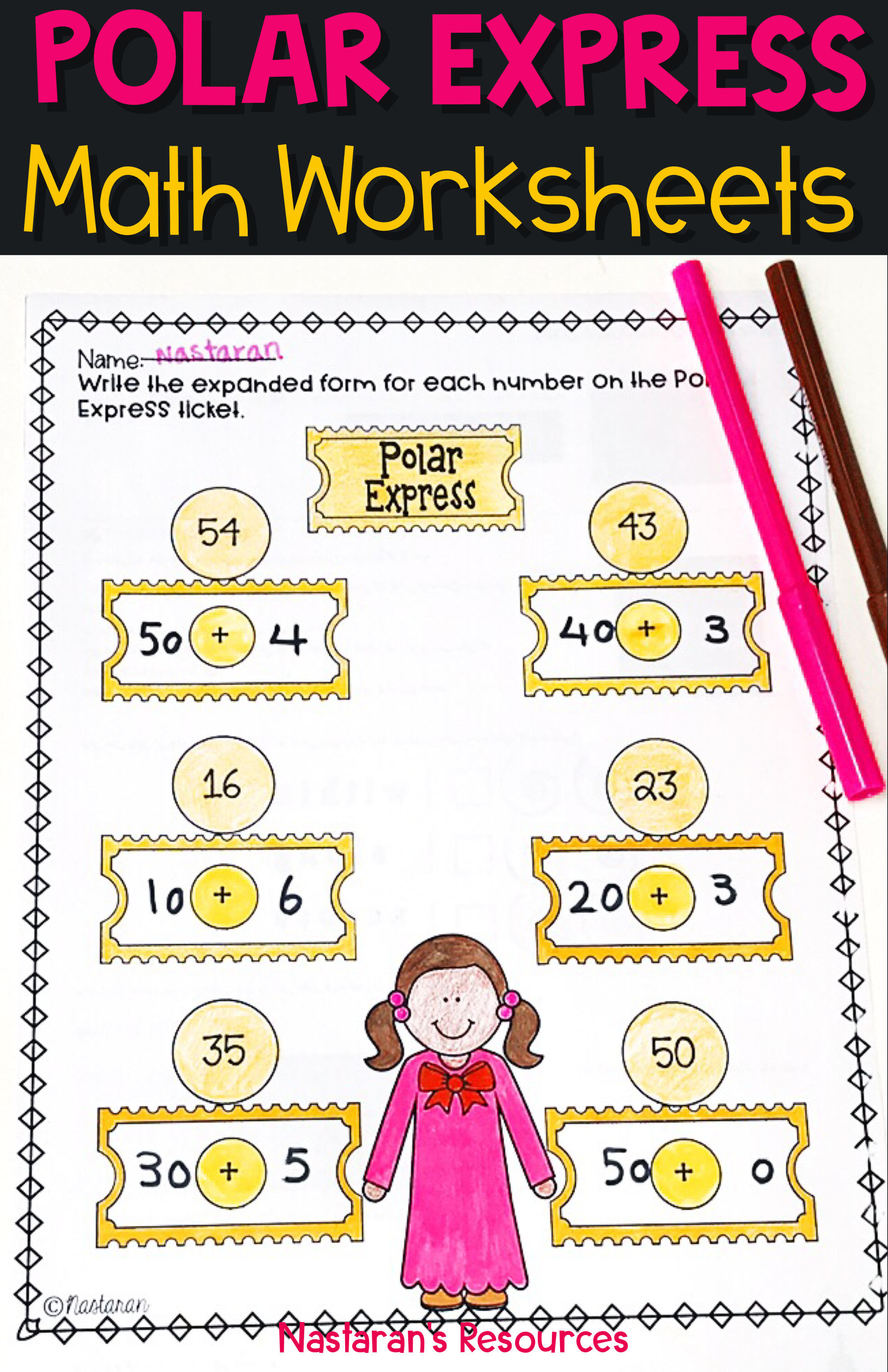 Polar Express Math Activities Perfect For Extra Practice During December Use These Worksheets For Your Students Math Worksheets Polar Express Activities Math
