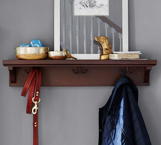 Moran Ledge With Hooks Pottery Barn For Guest Room