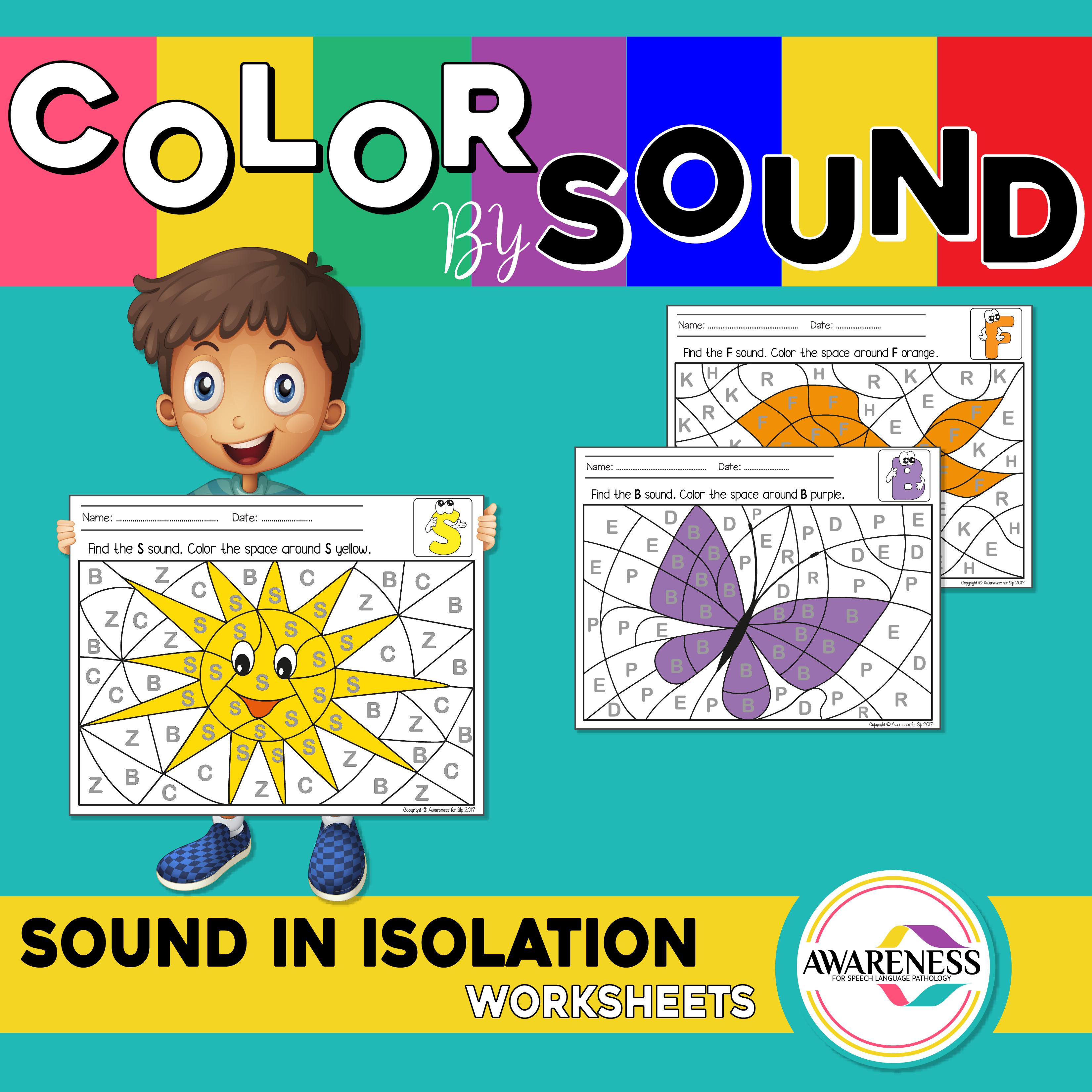 Speech Sound In Isolation Worksheets