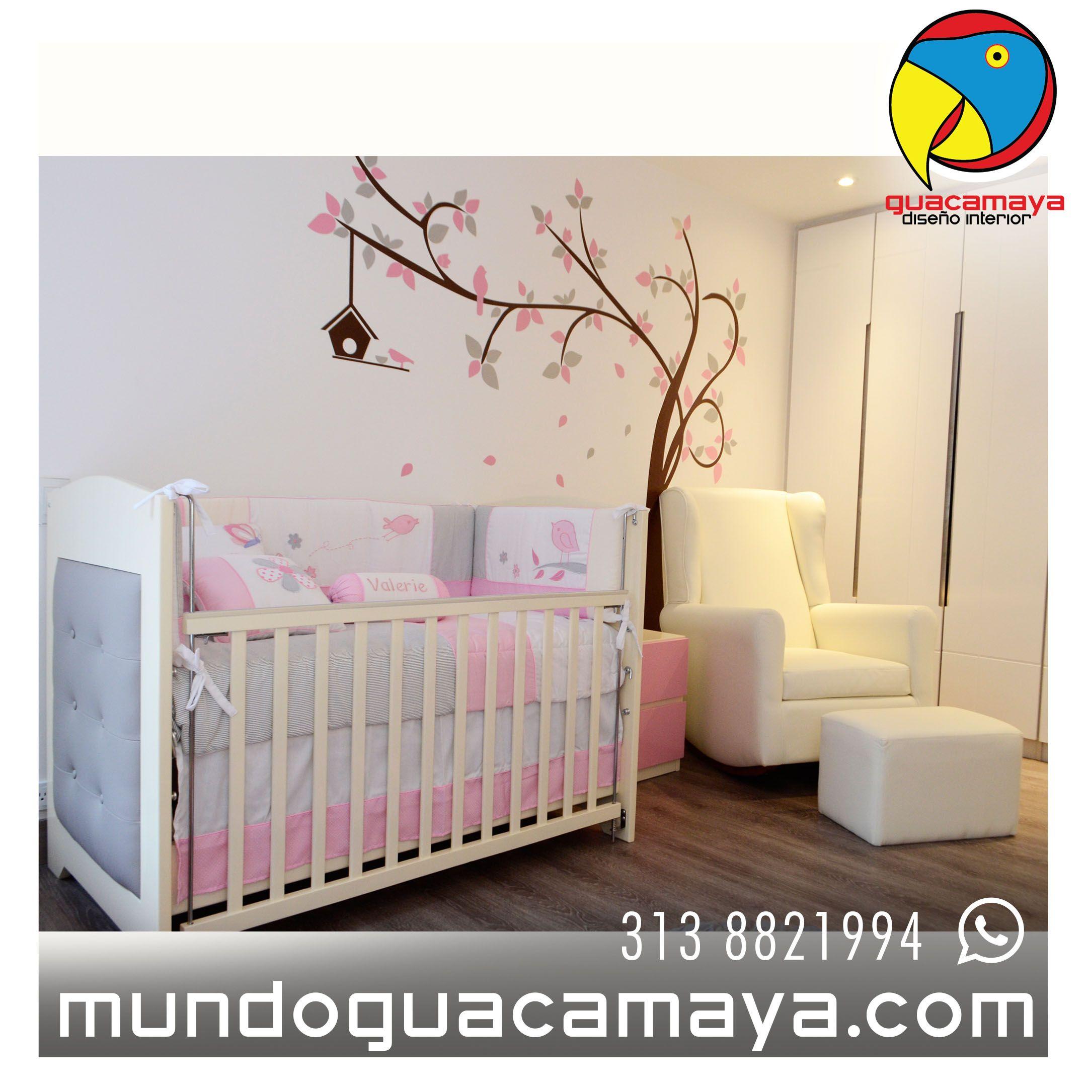 Vinilos decoraci n habitaciones de beb ni a quieres for Decoracion para habitacion de bebe nina