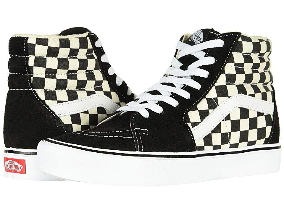15729b127f Vans Sk8-Hi Lite Men s Skate Shoes (Checkerboard) Black White ...