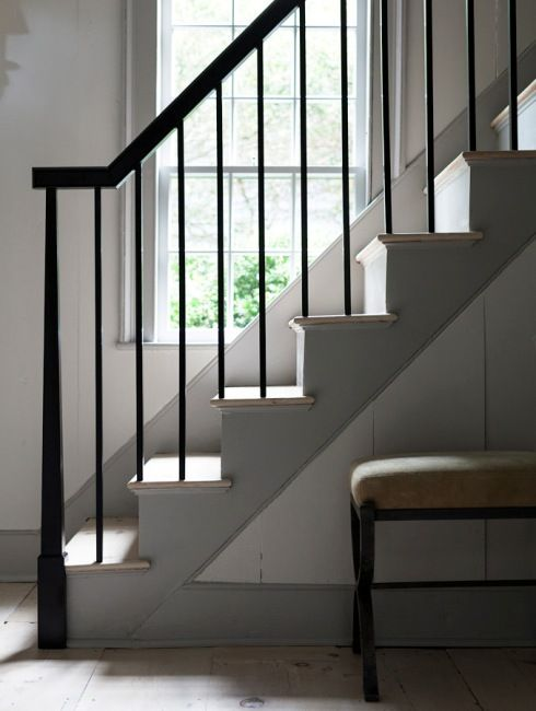 Best Dark Gray Trim Light Gray Walls Black Banister Details 400 x 300