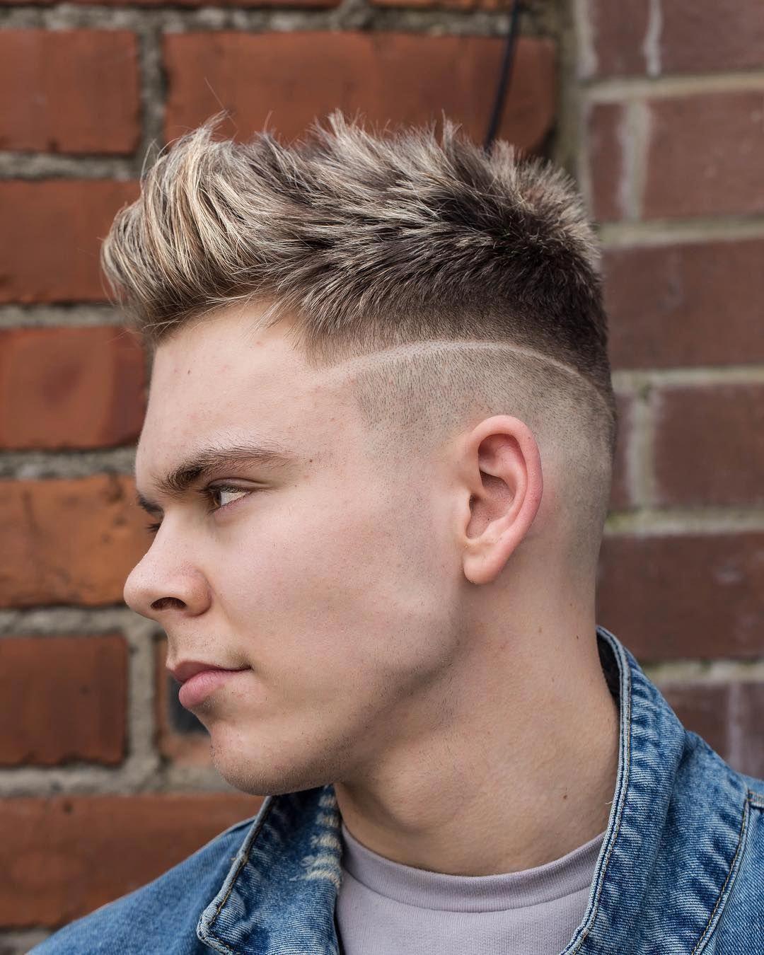 Color Top Sharp Fade Part Detail Menshaircuts Haircuts For Men Mens Hairstyles Cool Mens Haircuts
