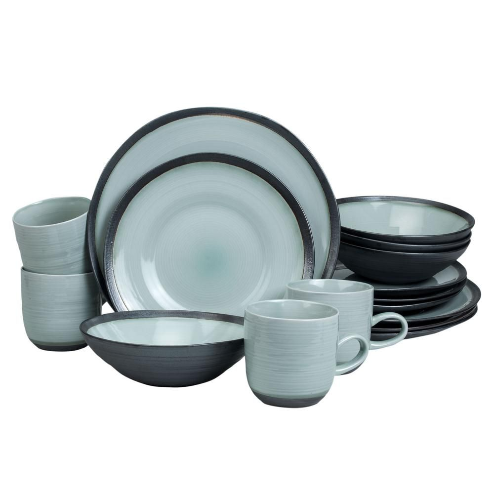 Euro Ceramica Diana 16 Piece Asian Inspired Light Turquoise And Metallic Grey Porcelain Dinnerware S In 2020 Dinnerware Sets Porcelain Dinnerware Dinnerware Set Modern