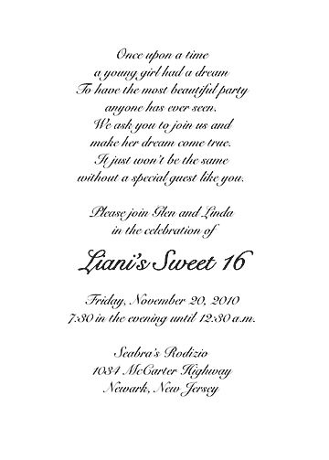 Sample Sweet 16 Invitations Sweet 16 Invitation Wording Bday