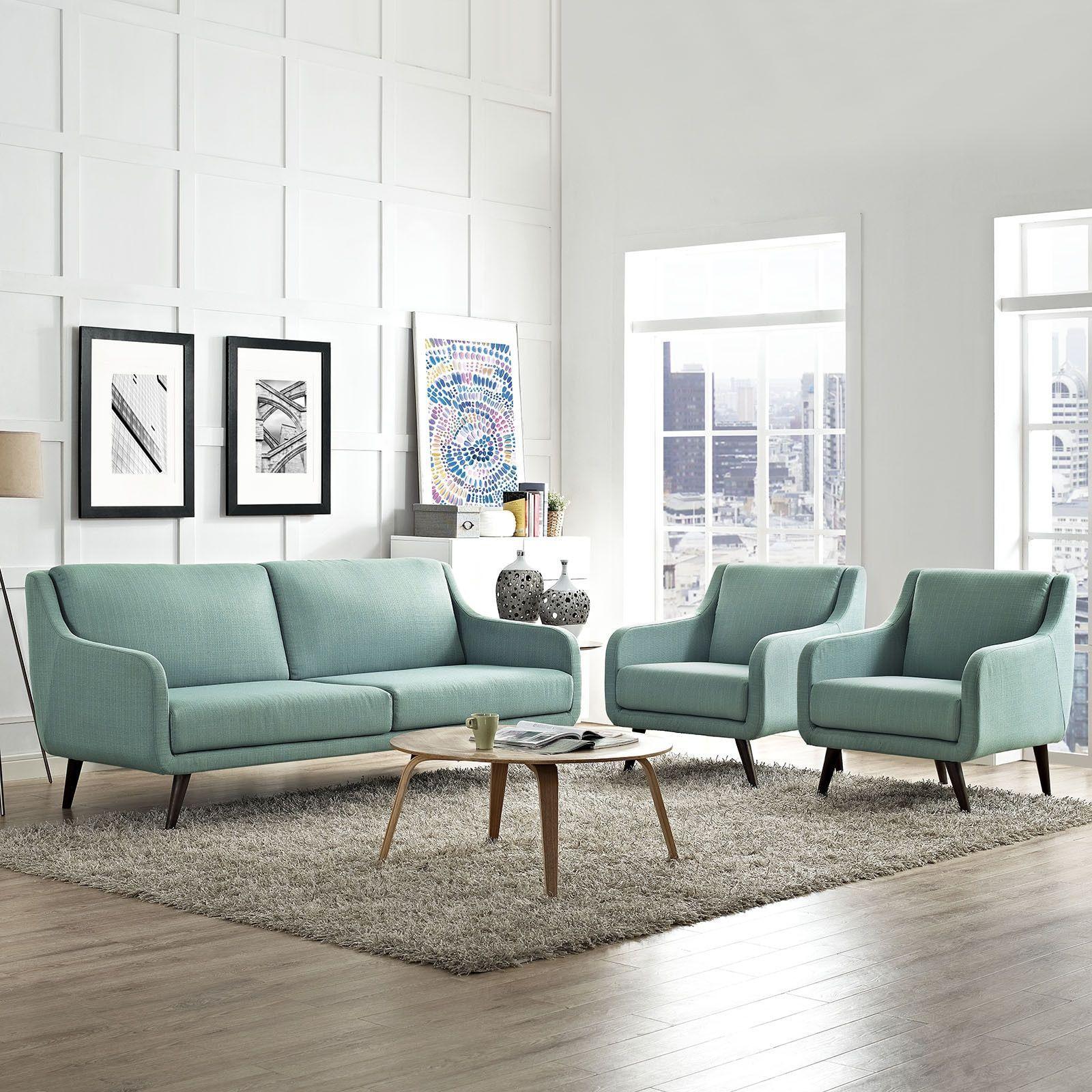 Modway Verve Upholstered Living Room Set | living room ideas ...