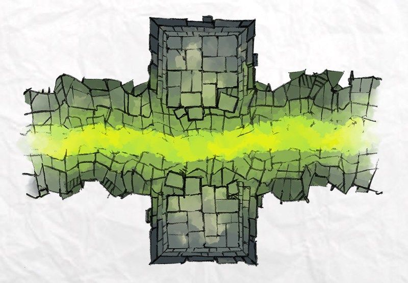 The DUNGEON WELL & CHASM map tiles by (With images