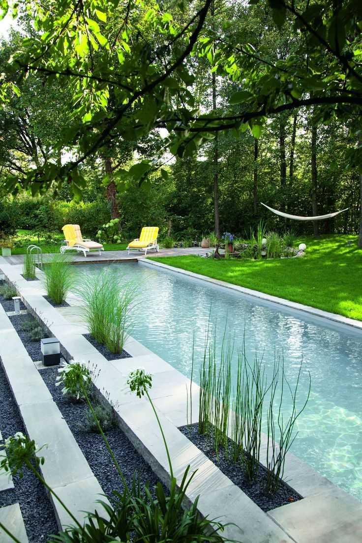 On Prend Tout Sauf Les Transats Jaunes We Take Everything Except The Yellow Deckchair Soshape Sos Pool Landscaping Small Pool Design Swimming Pool Designs