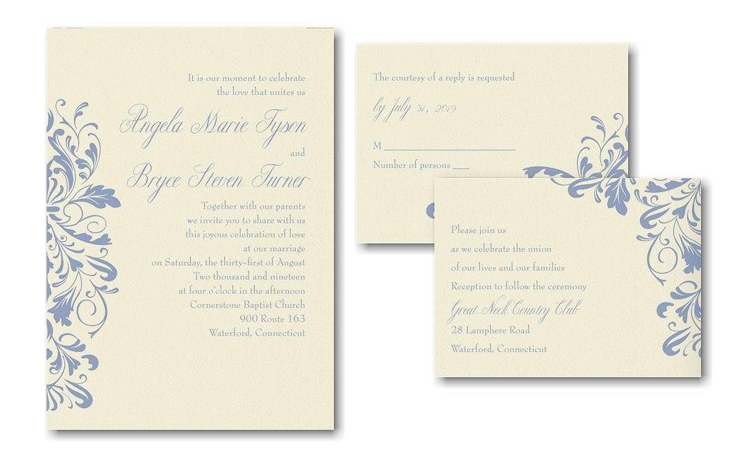 Unique Damask Sep 'n Send Wedding Invitation