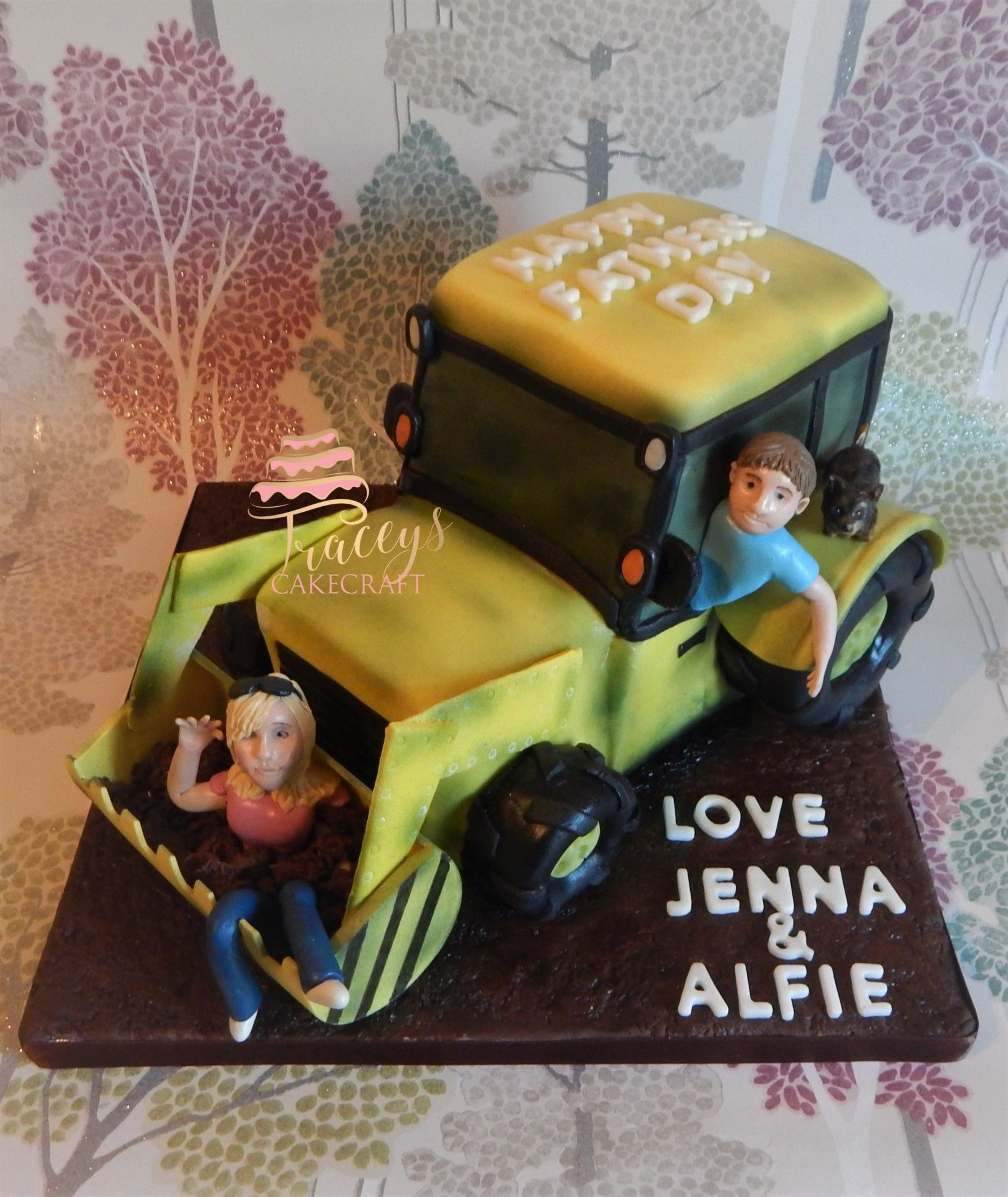 Fathers Day Tractor cake