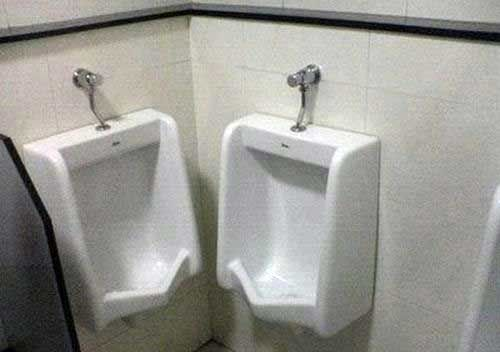 Bad Architecture Design Creates Weird Urinal Placement | Design ...