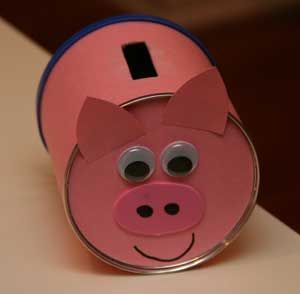 Kids piggy bank craft pinteres for How to make a coin bank
