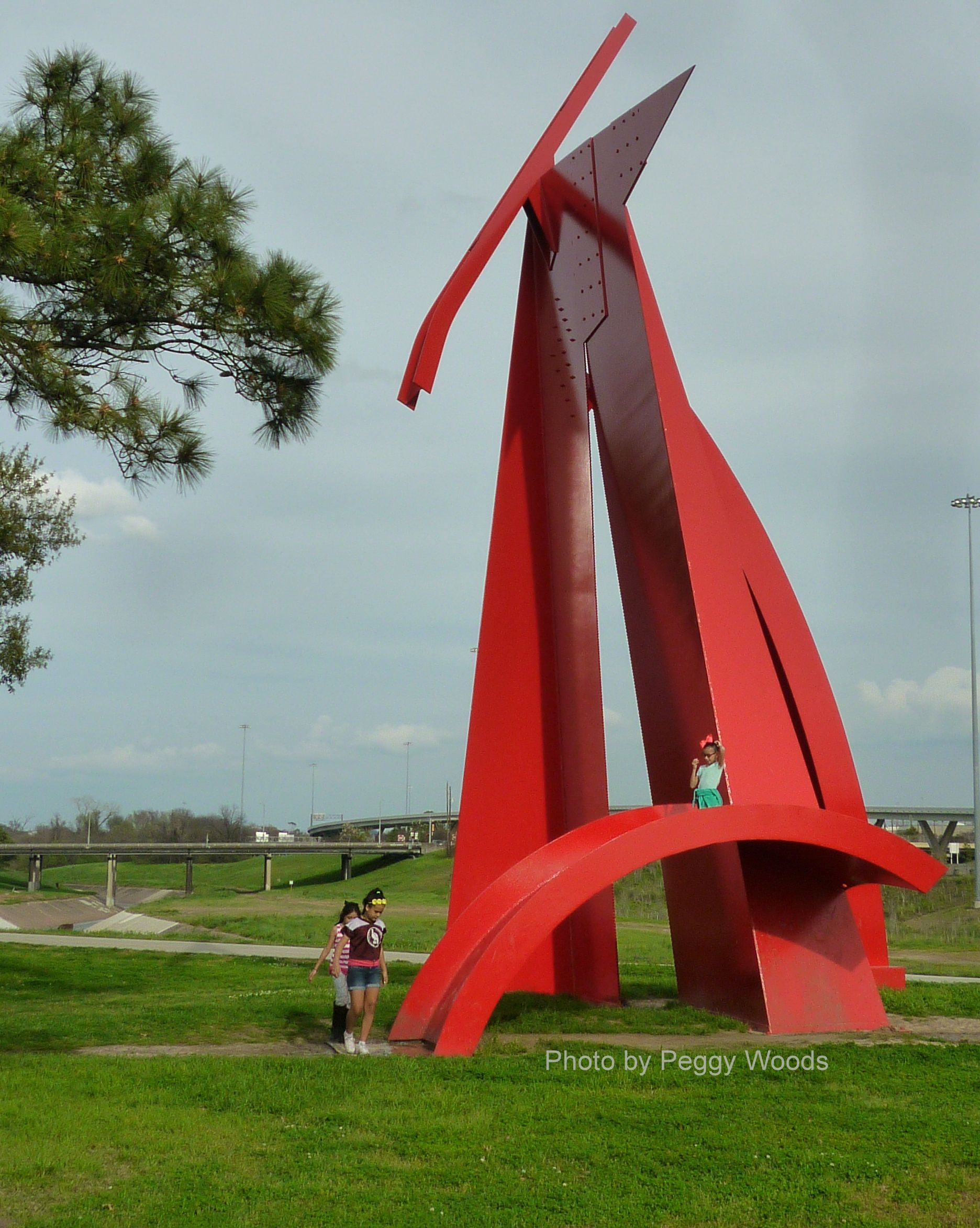 photos of steel sculpture titled houston by artist mac whitney in