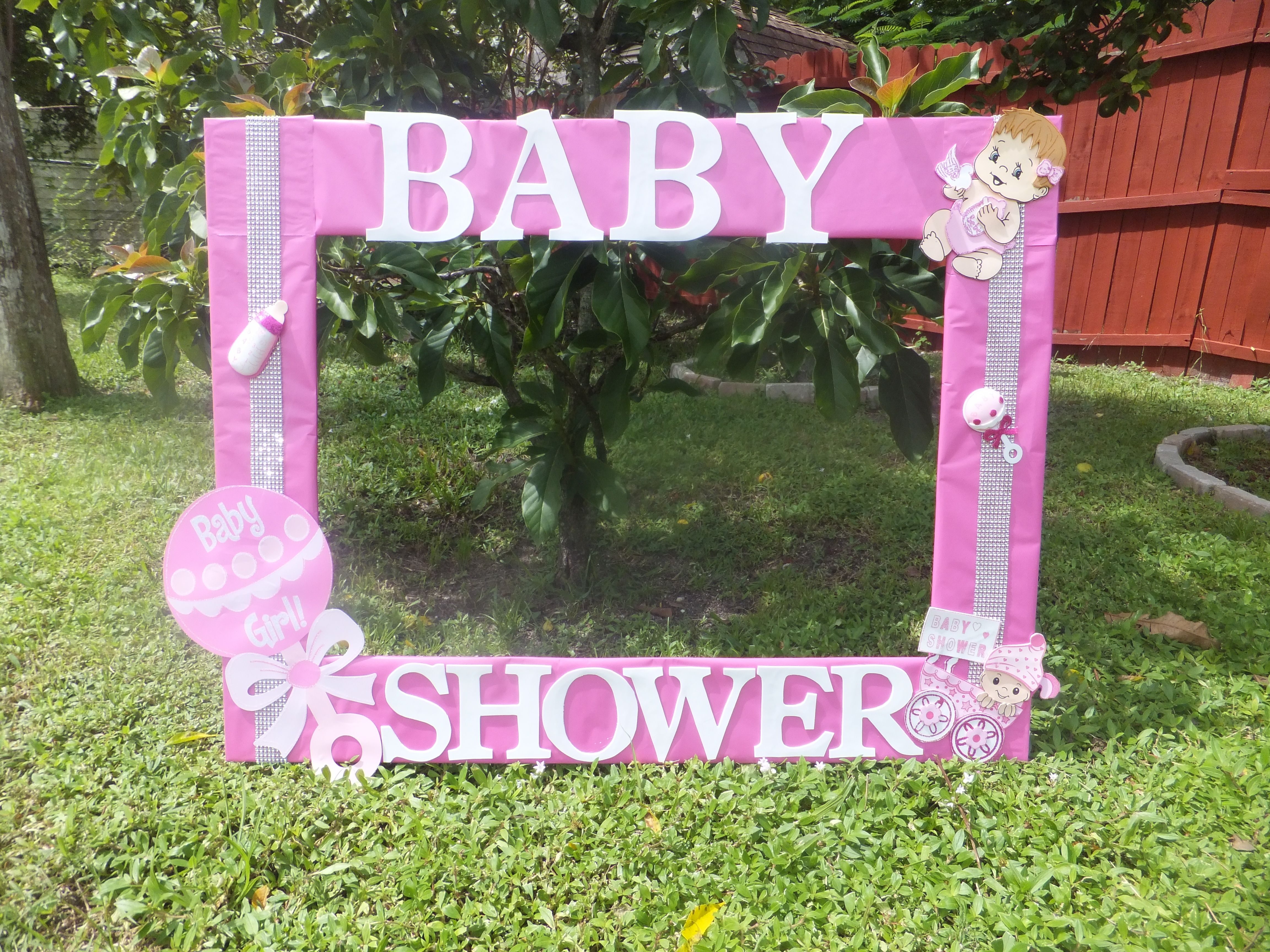 Baby Shower For Girl Photo Frame Cuadro Tematico Made By Thelma Villa