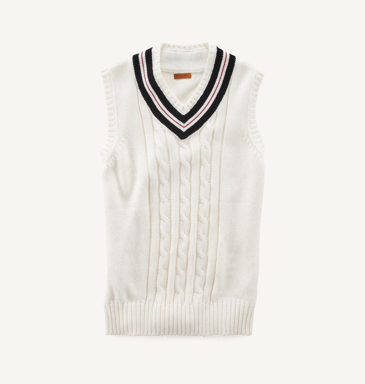 V-Neck Designer Sweater Vest: Available in white or gray. 90 ...