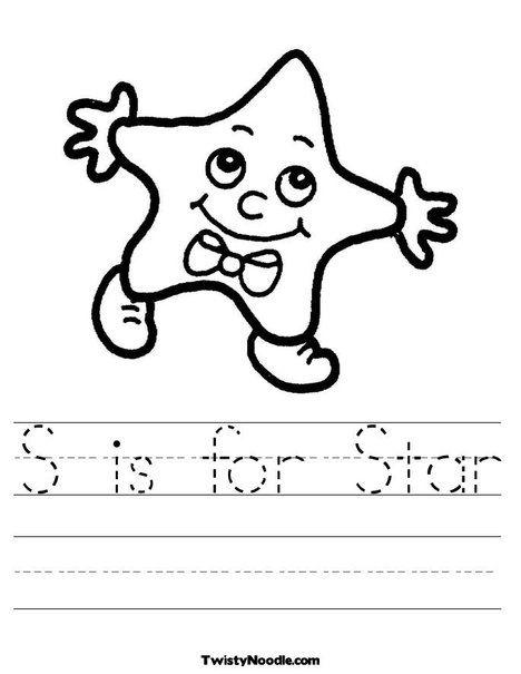S Is For Star Worksheet S Is For Star Shape Worksheets Letter N Coloring Pages Star shape preschool worksheets