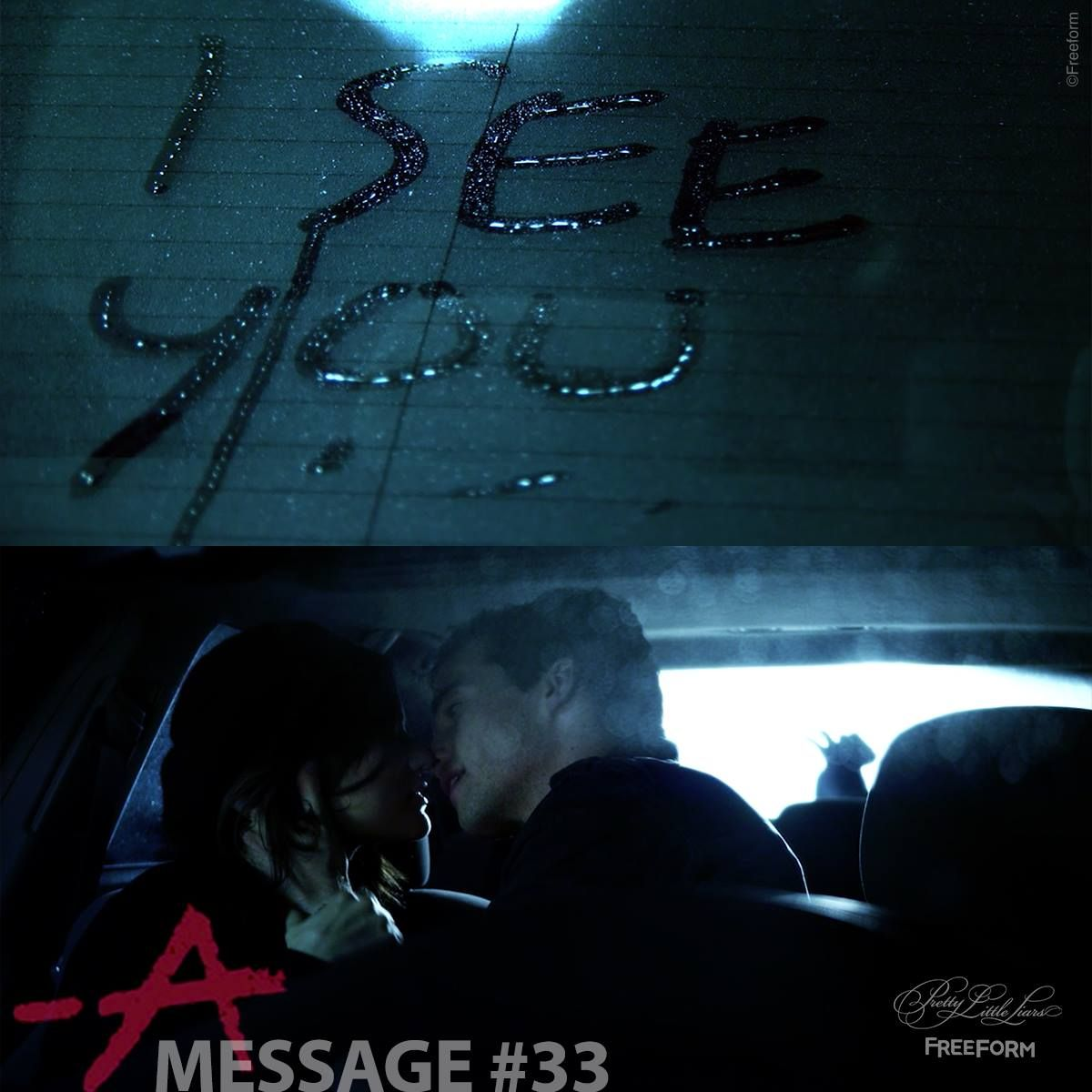 Message #33 from A  Sent to the Aria and Ezra  Ezra's car at