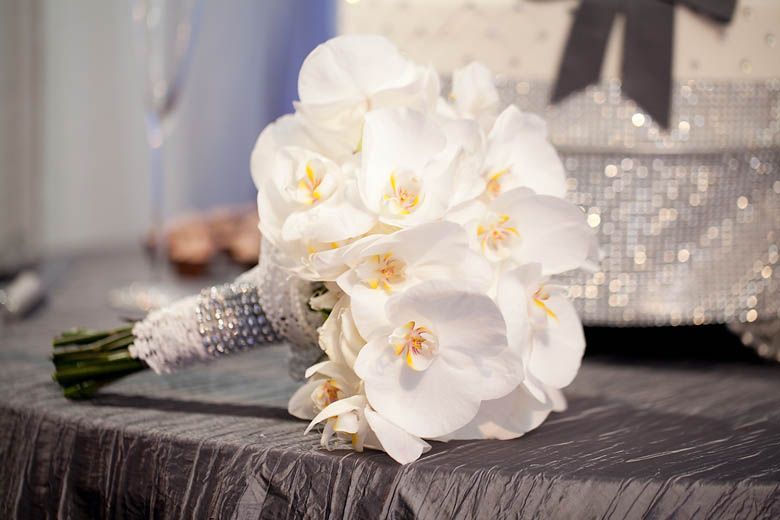 White Orchid Bouquet Bridesmaid Or Bridal Pretty Either Way