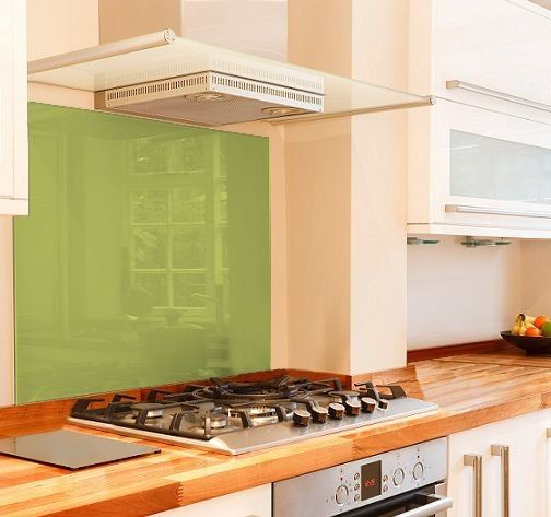 Lime glass splashback New kitchen ideas Pinterest Glass - küchenrückwände aus glas