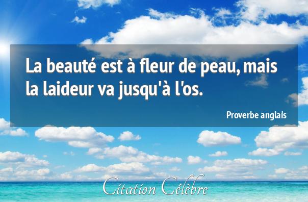 Proverbe Beaute Fleur Peau Proverbe Anglais Dicton N