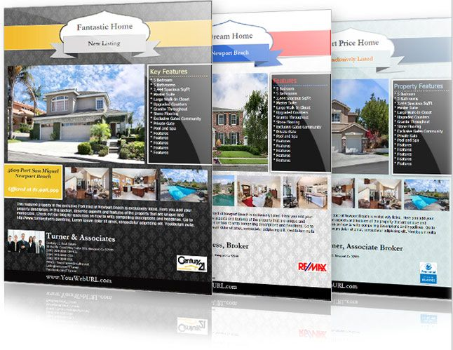17 Best images about Real Estate Flyer Inspiration on Pinterest ...
