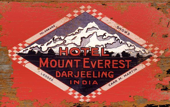 Hotel Mount Everest Darjeeling India Wood Art Sign