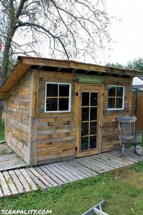 Garden Pallet Shed Unique Shed Roofed Using Tin Cans DIY