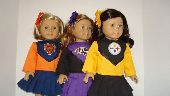 American Girl Doll Clothes/Chicago Bears/Baltimore Ravens/Pittsburgh Steelers/Cheerleader outfit 18 inch American Girl Doll/READY TO SHIP #18inchcheerleaderclothes American Girl Doll Clothes/Chicago Bears/Baltimore by auntiejans #18inchcheerleaderclothes American Girl Doll Clothes/Chicago Bears/Baltimore Ravens/Pittsburgh Steelers/Cheerleader outfit 18 inch American Girl Doll/READY TO SHIP #18inchcheerleaderclothes American Girl Doll Clothes/Chicago Bears/Baltimore by auntiejans #18inchcheerleaderclothes