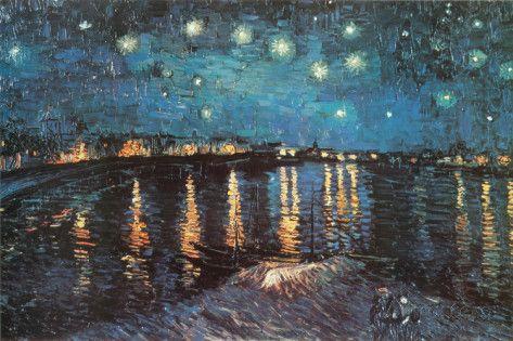 Noite Estrelada Sobre o Ródano, c.1888 poster