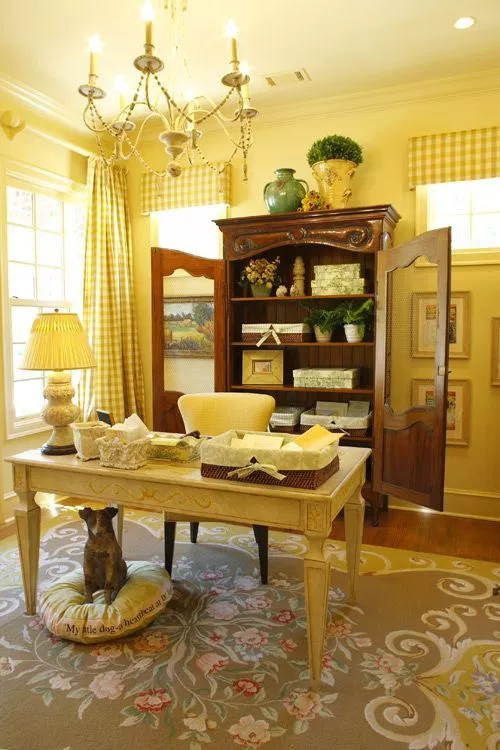35 Gorgeous Yellow Home Decorating Ideas Decor Country Office French