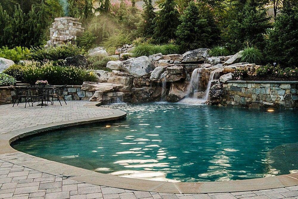 waterfall pool Extraordinary Pools Pinterest Patios