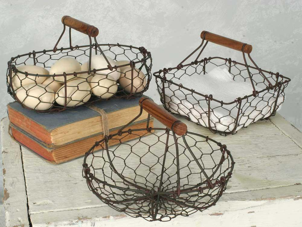 Wire Basket With Handle | Wire Baskets Set Of 3 In 2019 Linda Pinterest Wire Baskets