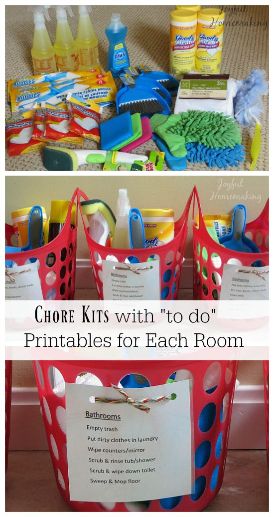 Chore Kits With Printable Diy Productos De Limpieza Limpieza De