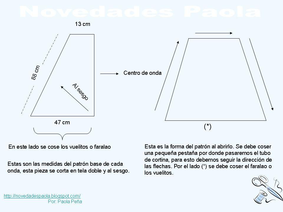 Novedades Paola: Cortina: Cenefas Entubada Cruzada | patrones ...