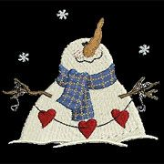 Cute Country Snowmen from Sweet Heirloom will lend a charming warmth to your wintertime projects.