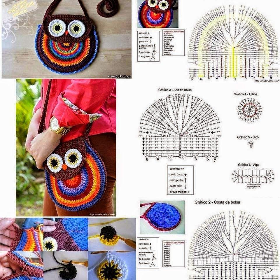 Todo crochet | Bolsos y carteras | Pinterest | Molde, Ganchillo y Bolsos