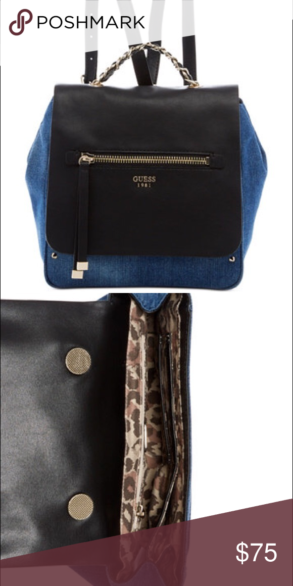Guess Denim   Leather Sammie Backpack Brand new d7fa98d210d29