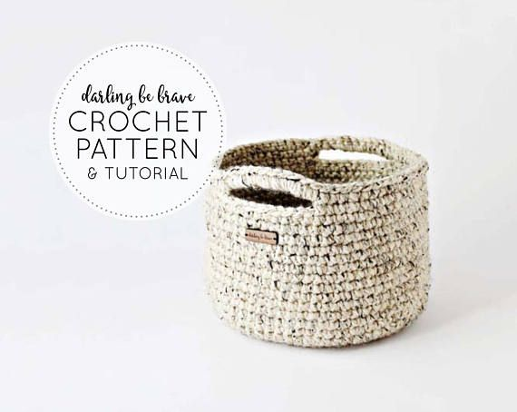 CROCHET PATTERN & TUTORIAL • The Adjustable Basket Pattern • Chunky Texture { Make Almost Any Size Basket } • • • Instant PDF Download • • • ( Ive recently merged two etsy shops. If youd like to check out my reviews and pattern sales, find me at