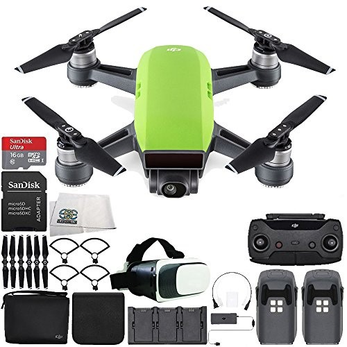 189f703b42f DJI Spark Portable Mini Drone Quadcopter Fly More Combo Virtual Reality  Experience VR Bundle (Meadow Green)
