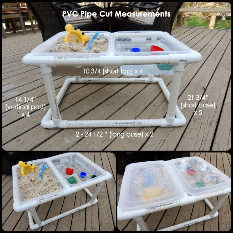 Pvc Pipe Patio Furniture Plans: How To Make A PVC Pipe Sand And Water Table