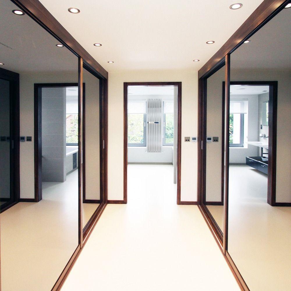 Sliding Wardrobe Mirror Panels Gray Mirror Sliding Doors