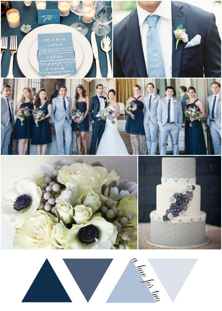Blue Vintage Wedding
