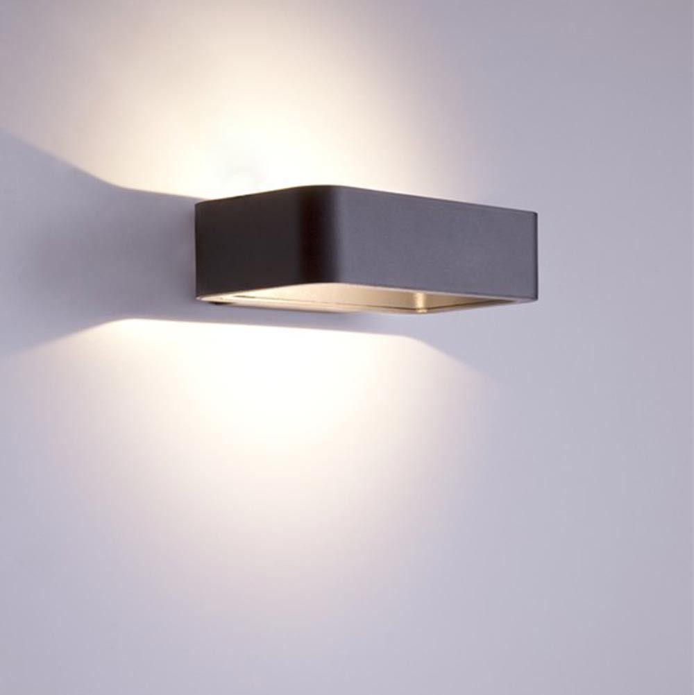 Lichtdesign Skapetze skapetze uno led aussen wandleuchte 13 cm up anthrazit