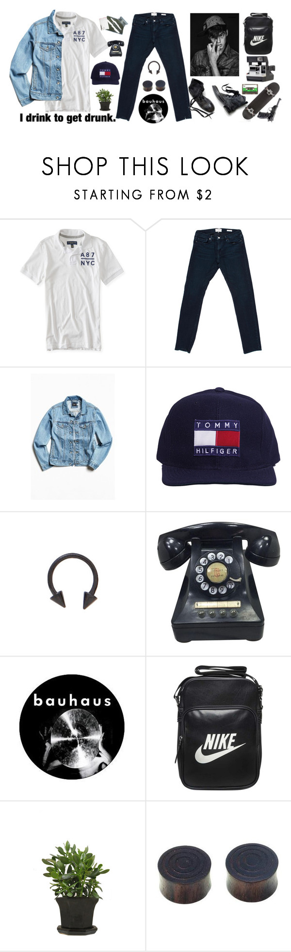 """""""drunk"""" by elle01-1 ❤ liked on Polyvore featuring Aéropostale, Frame Denim, BDG, NIKE, Ann Demeulemeester, Etiquette, NOVICA, Sia, men's fashion and menswear"""