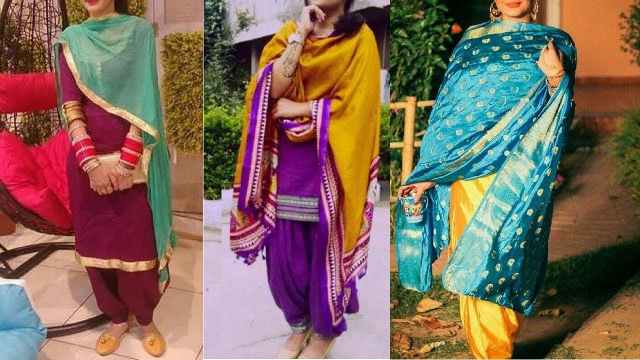 Simple Suits With Contrast Dupatta New Contrast Punjabisuits Plain Plainsuitwithcontrastdupatta Simplesuitwithcontrastdup Suits Punjabi Suits Fashion Moonga silk designer woven dupatta by safaa. simple suits with contrast dupatta