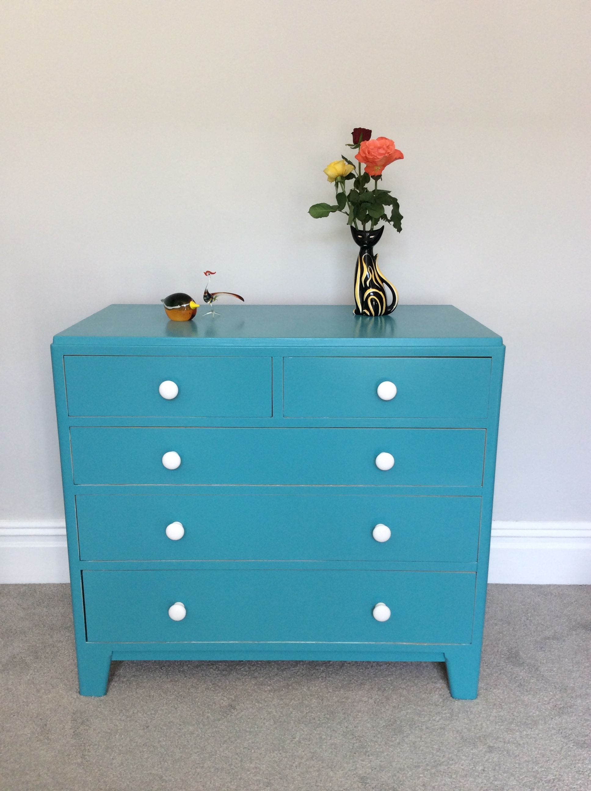 Refinished Painted Upcycled Furniture Turquoise Blue Dresser Chest Of Drawers Bo Shabby Chic Dresser Shabby Chic Bedrooms Shabby Chic Furniture