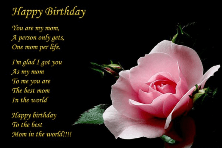 Happy Birthday Poems For Mother Happy birthday mom poems