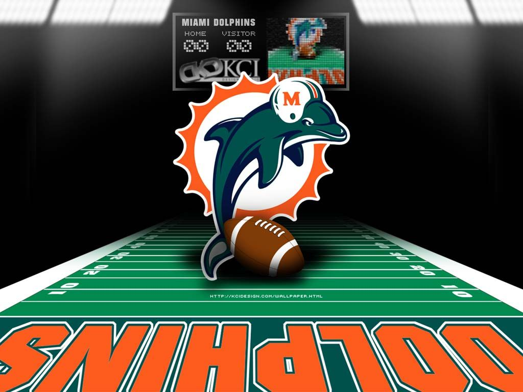 Miami Dolphins Logo Desktop Wallpaper An awesome image